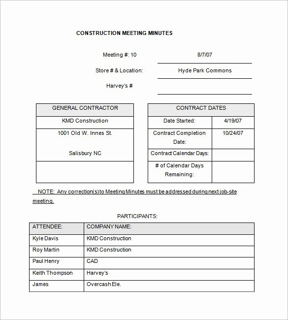 Construction Meeting Agenda Template Luxury 14 Project Meeting Minutes Template Google Docs Word Apple Pages