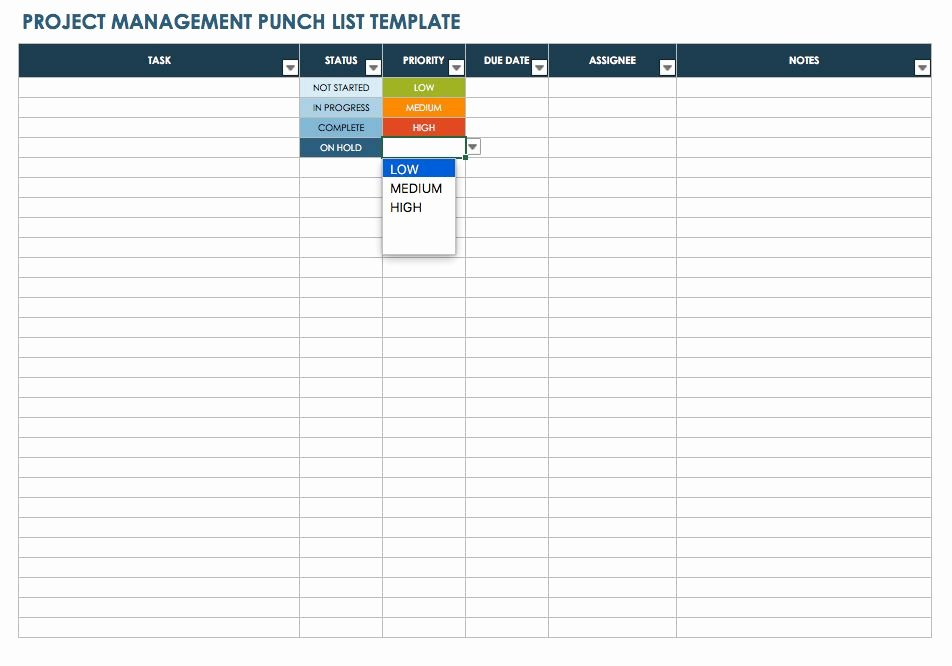 Construction Punch List form Unique Construction Punch List Template – Emmamcintyrephotography
