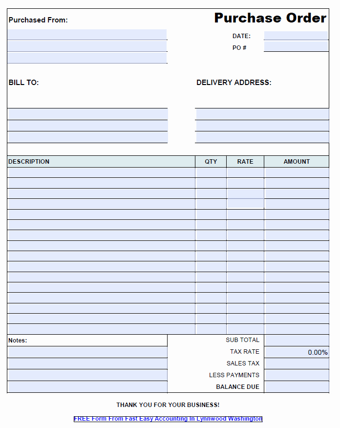 Construction Purchase order Template Awesome Free Contractor Purchase order Template Pdf