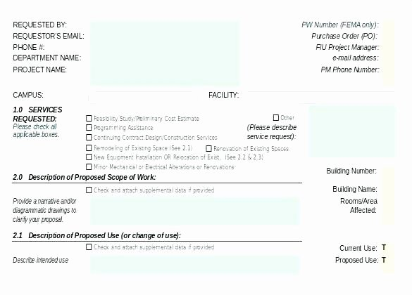 Construction Purchase order Template Best Of Work Request Template