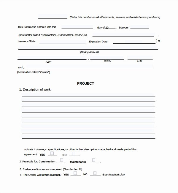 Construction Work order Template Unique 6 Sample Construction Work order forms Pdf