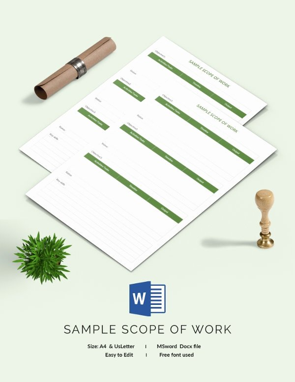 Consultant Scope Of Work Template Fresh Scope Of Work Template 36 Free Word Pdf Documents Download