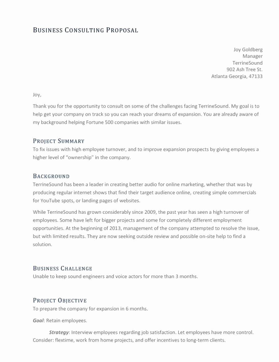 Consulting Proposal Sample Pdf Inspirational 39 Best Consulting Proposal Templates [free] Template Lab