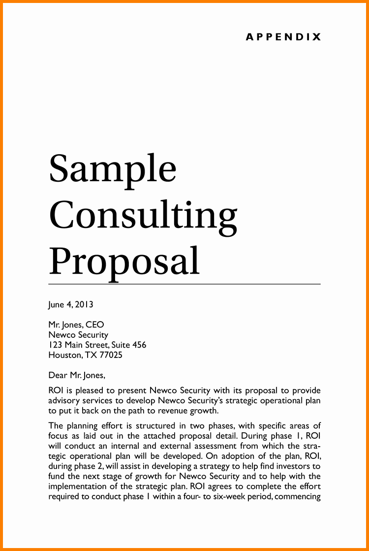 Consulting Proposal Sample Pdf Luxury Consulting Proposal Template