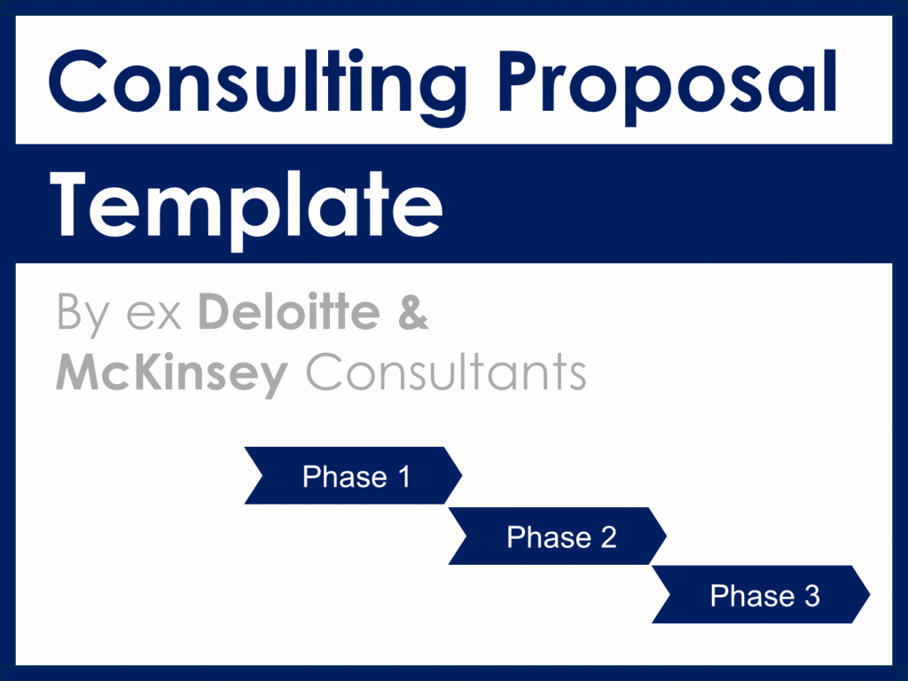 Consulting Proposal Template Mckinsey Elegant Project Management Documents Templates tools & Training