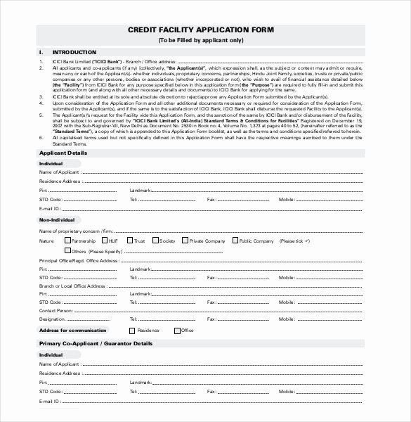 Consumer Credit Application form Lovely Credit Application Template 33 Examples In Pdf Word Google Docs Apple Pages