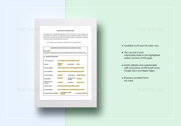 Consumer Credit Application form Luxury Application Templates – 20 Free Word Excel Pdf Documents Download