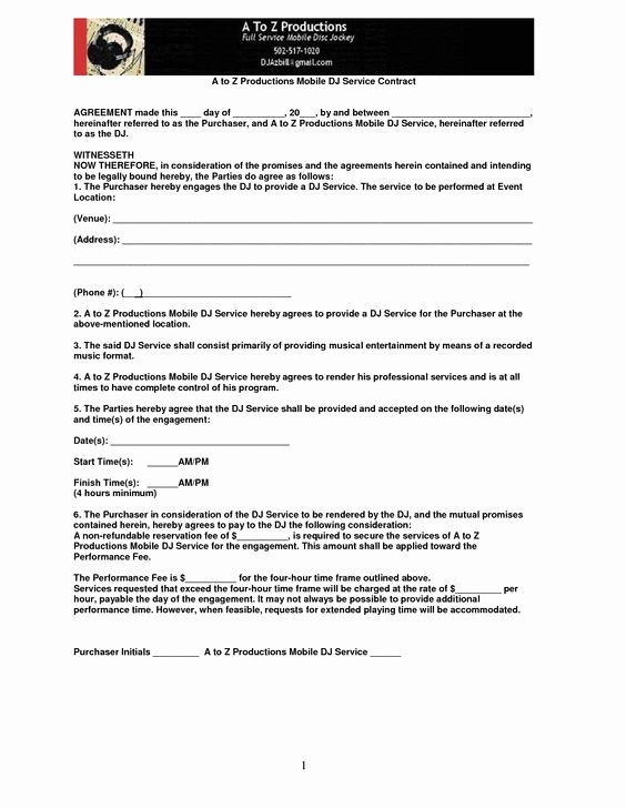 Contract for Dj Services Luxury Mobile Dj Contract Mobile Contract Pic 21 Places to Visit Pinterest