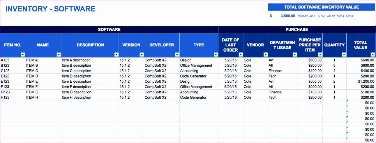 Contract Management Template Excel Awesome 6 Inventory Spreadsheet Template for Excel Exceltemplates Exceltemplates