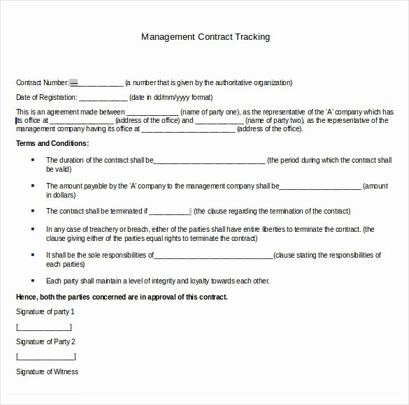 Contract Management Template Excel Elegant Contract Tracking Template 9 Free Word Excel Pdf Documents Download