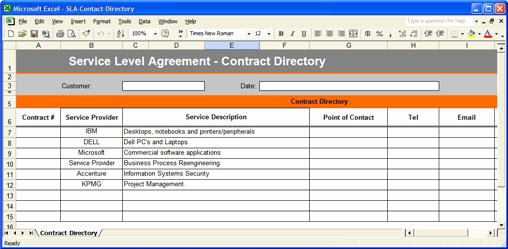 Contract Management Template Excel Elegant Service Level Agreement Template Download 2 Ms Word & 3 Free Excel