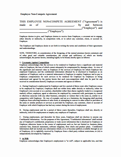 Contractor Non Compete Agreement Template Best Of Non Pete Agreement Free Download Create Edit Fill and Print Pdf Templates Wondershare