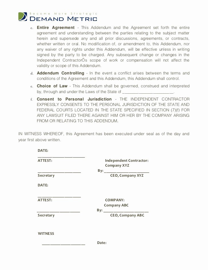 Contractor Non Compete Agreement Template Inspirational Non Pete Agreement Template