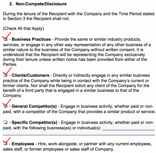 Contractor Non Compete Agreement Template Inspirational Non Pete Agreement Templates