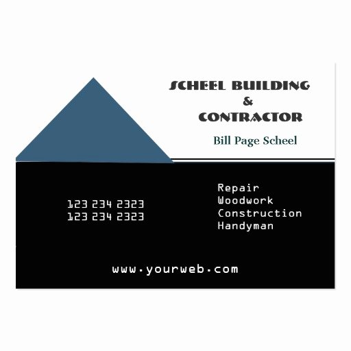 remodeling contractors business card templates