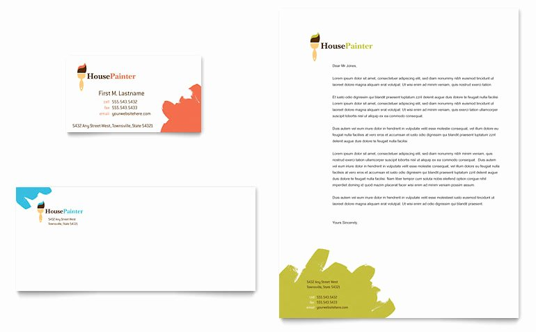 Contractors Business Cards Examples Best Of Painter & Painting Contractor Business Card & Letterhead Template Word & Publisher