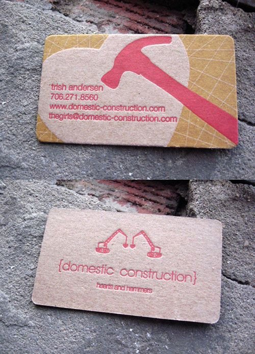 Contractors Business Cards Examples Fresh Business Card Construction