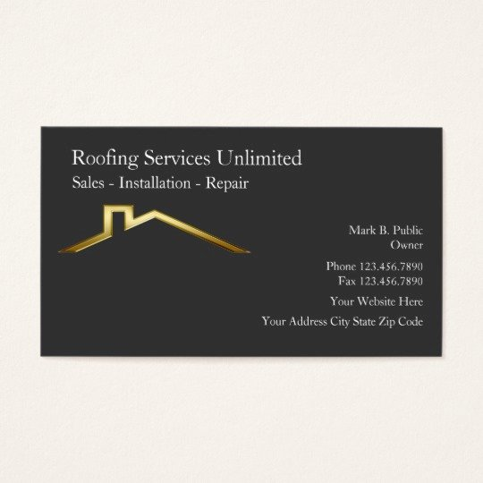 Contractors Business Cards Examples Inspirational Roofing Construction Business Cards