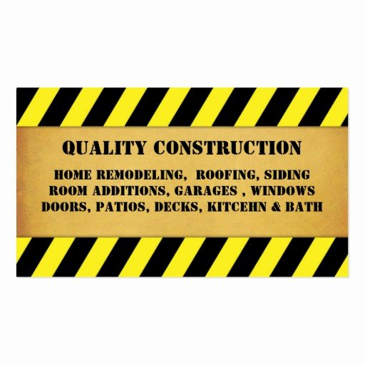 Contractors Business Cards Examples New Home Remodeling Construction Business Card