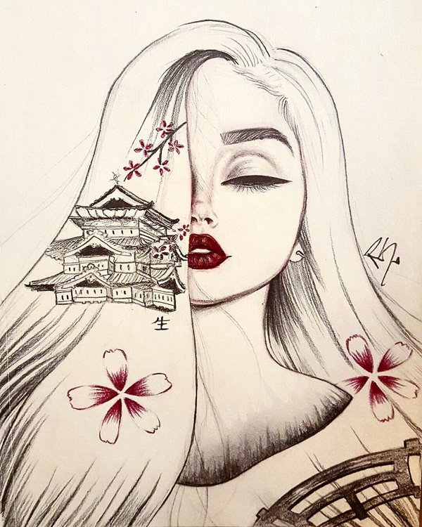 Cool Drawings Of Girls Best Of 35 Cool and Creative Drawing Ideas for Teenagers