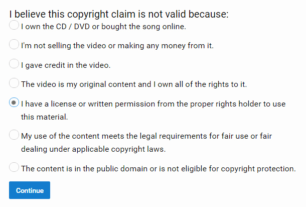 Copyright Statement for Music Elegant Buyers Guide to Adrev Copyright Claims On