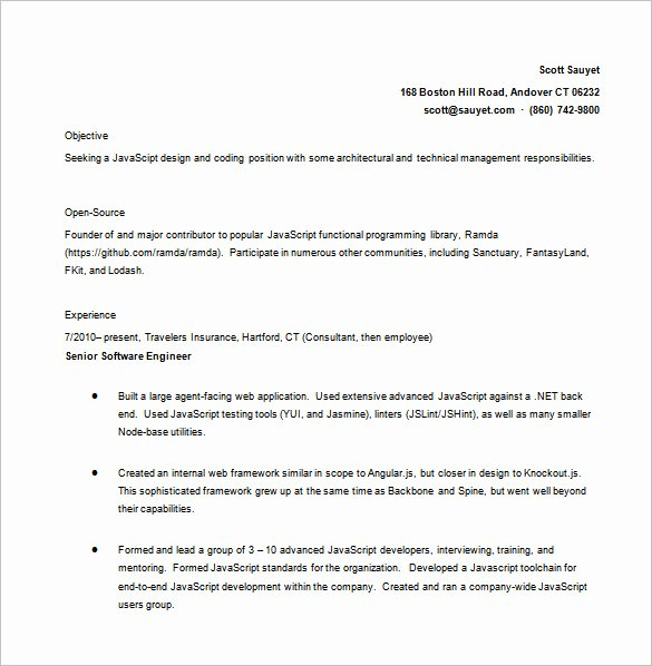Core Java Developer Resume Unique 10 Java Developer Resume Templates Doc Pdf