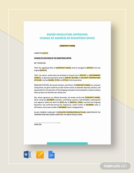 Corporate Resolution Template Microsoft Word Fresh Board Resolution Approving Acquisition Of Business assets Template Download 129 Planning and