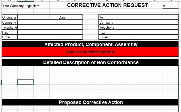 Corrective Action Plan Template Excel Best Of Corrective Action Template for Microsoft Excel – Templatestaff
