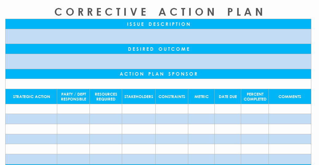 Corrective Action Plan Template Excel Best Of Get Corrective Action Plan Template Excel – Microsoft Excel Templates