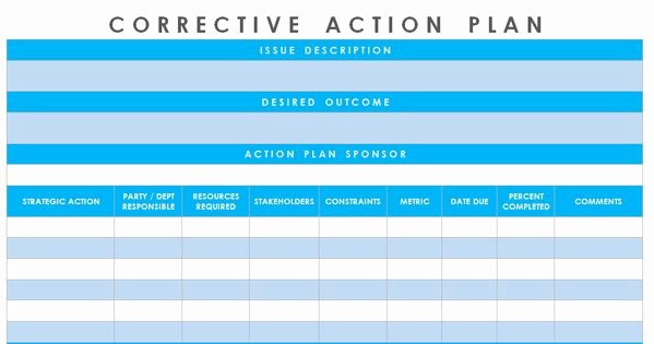 Corrective Action Plan Template Excel Elegant Get Corrective Action Plan Template Excel – Microsoft Excel Templates