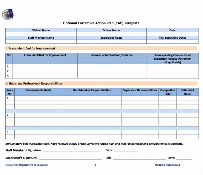 Corrective Action Plan Template Excel Fresh Corrective Action Template Excel 0 – Guatemalago