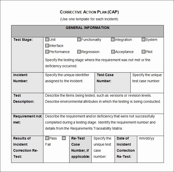 Corrective Action Plan Template Excel Luxury Corrective Action Plan – Emmamcintyrephotography