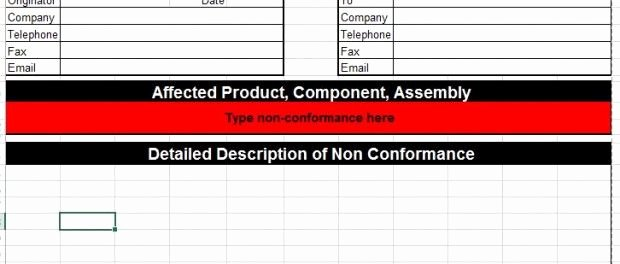 Corrective Action Plan Template Excel Luxury Corrective Action Template for Microsoft Excel Six Sigma