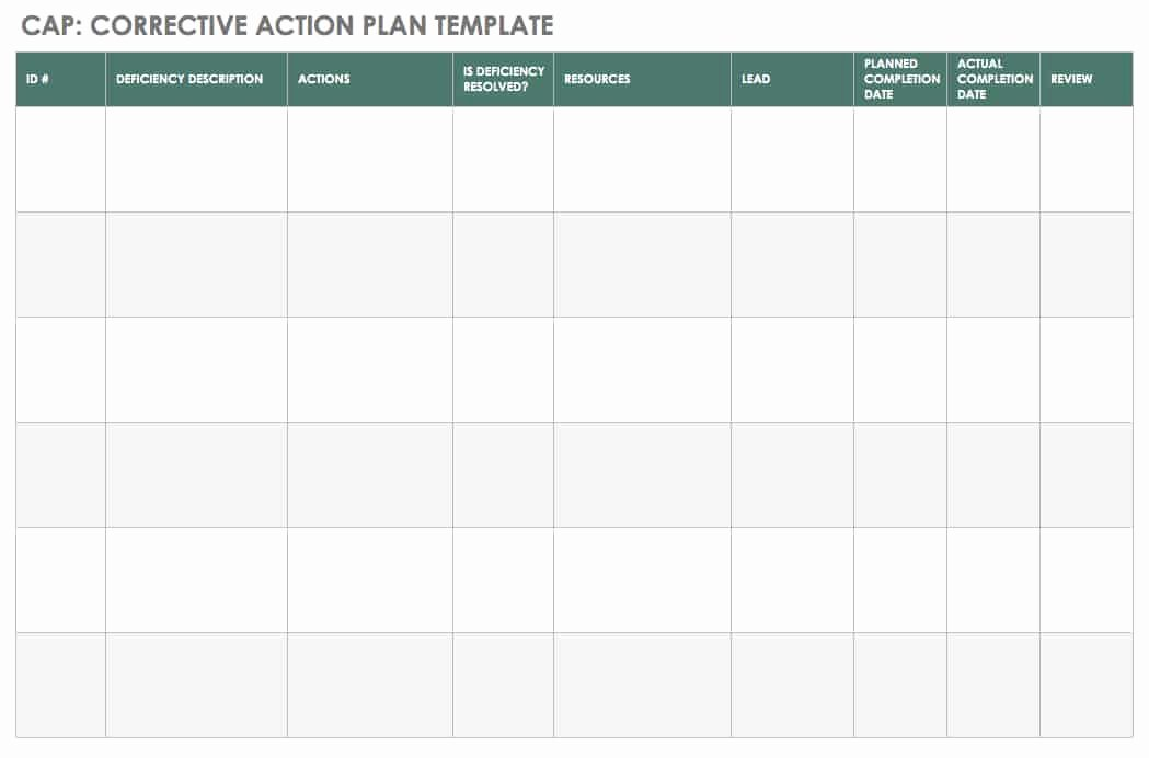 Corrective Action Plan Template Inspirational An Introduction to Corrective Actions