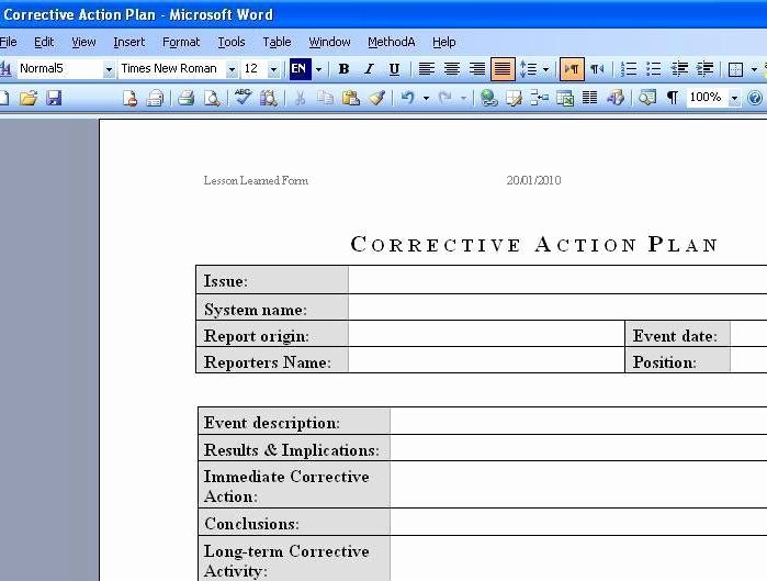 Corrective Action Plan Template Lovely Free Download Deployment Plan Template Excel