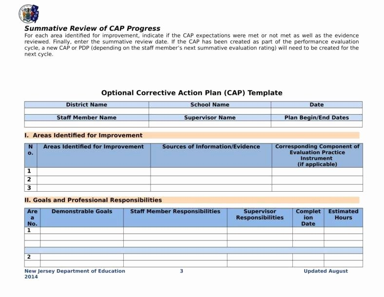 Corrective Action Plan Template Unique 10 Developing A Business Action Plans Word Docs Pdf