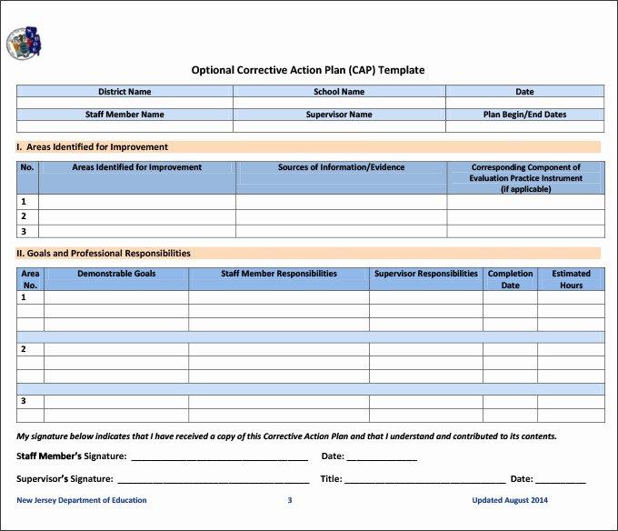 Corrective Action Plan Template Word Fresh Corrective Action Template Excel 0 – Guatemalago