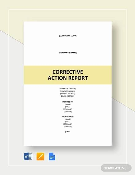 Corrective Action Report Examples Best Of 11 Sample Action Report Free Sample Example format Download