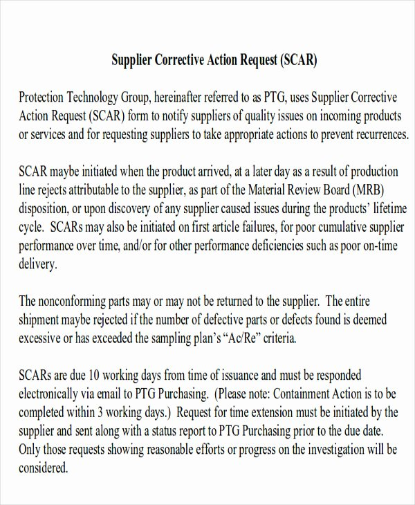 Corrective Action Report Template Luxury 11 Sample Action Report Free Sample Example format Download