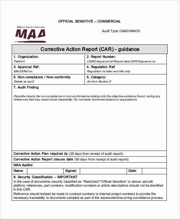 Corrective Action Report Template Unique 55 Report Templates Free Word Pdf Apple Pages Google Docs format