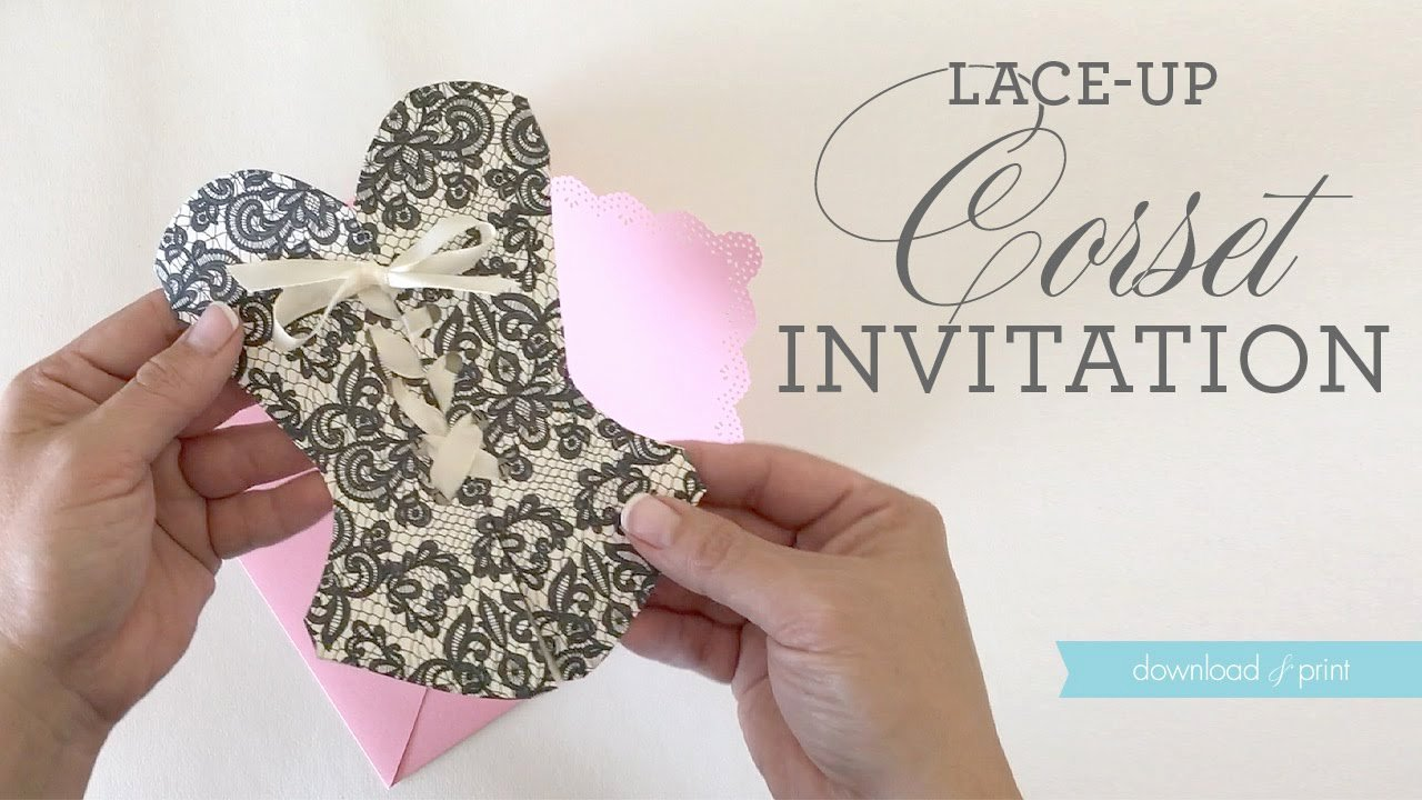 Corset Invitation Template Free Elegant Diy Lace Up Corset Invitation Video