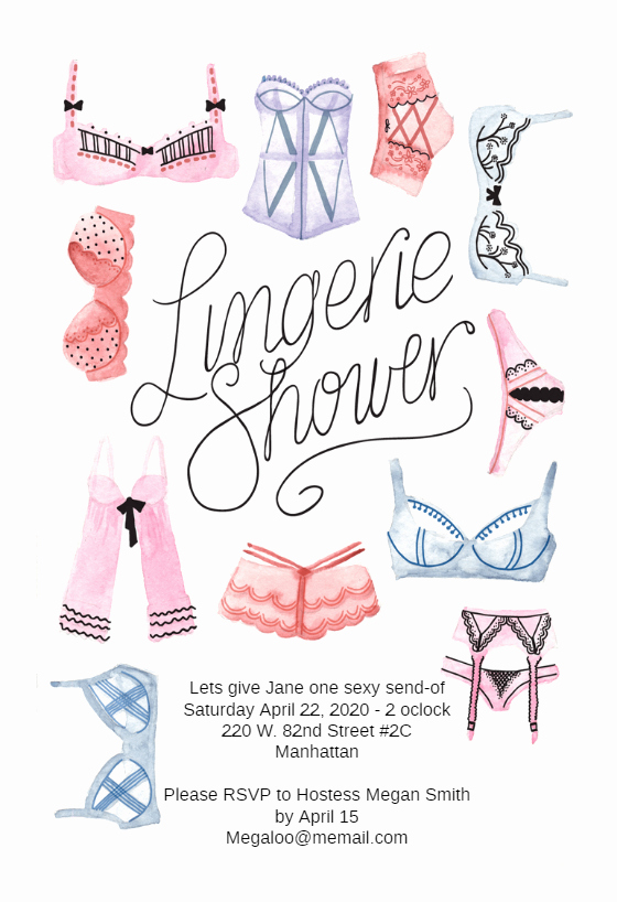 Corset Invitation Template Free Lovely Lingerie Shower Bridal Shower Invitation Template Free