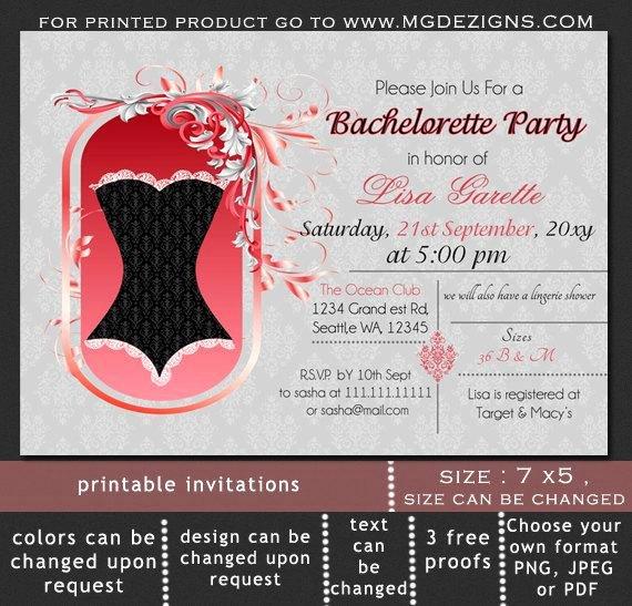 Corset Invitation Template Free Luxury Printable Damask Black Corset Lingerie Shower Bachelorette