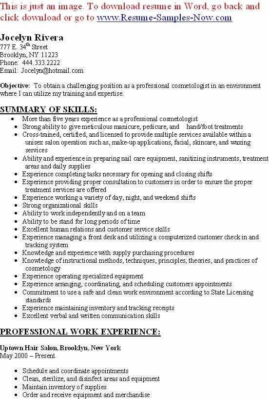 Cosmetology Resume Templates Free Awesome Free Cosmetology Resume Builder Free Cosmetology Resume Builder We Provide as Reference to