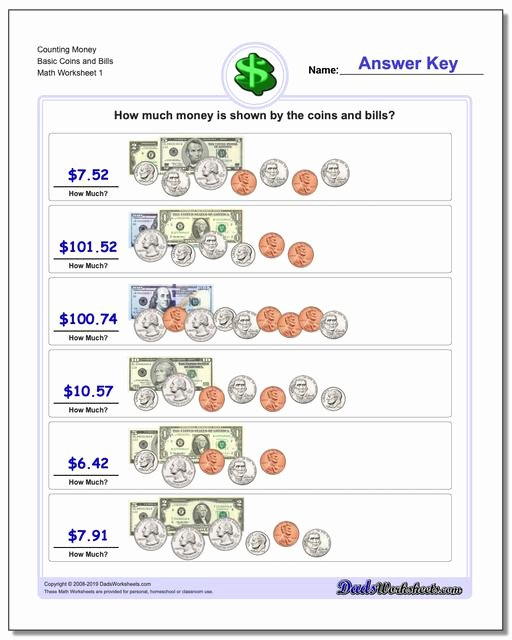 Counting Money Worksheets Pdf Best Of Money