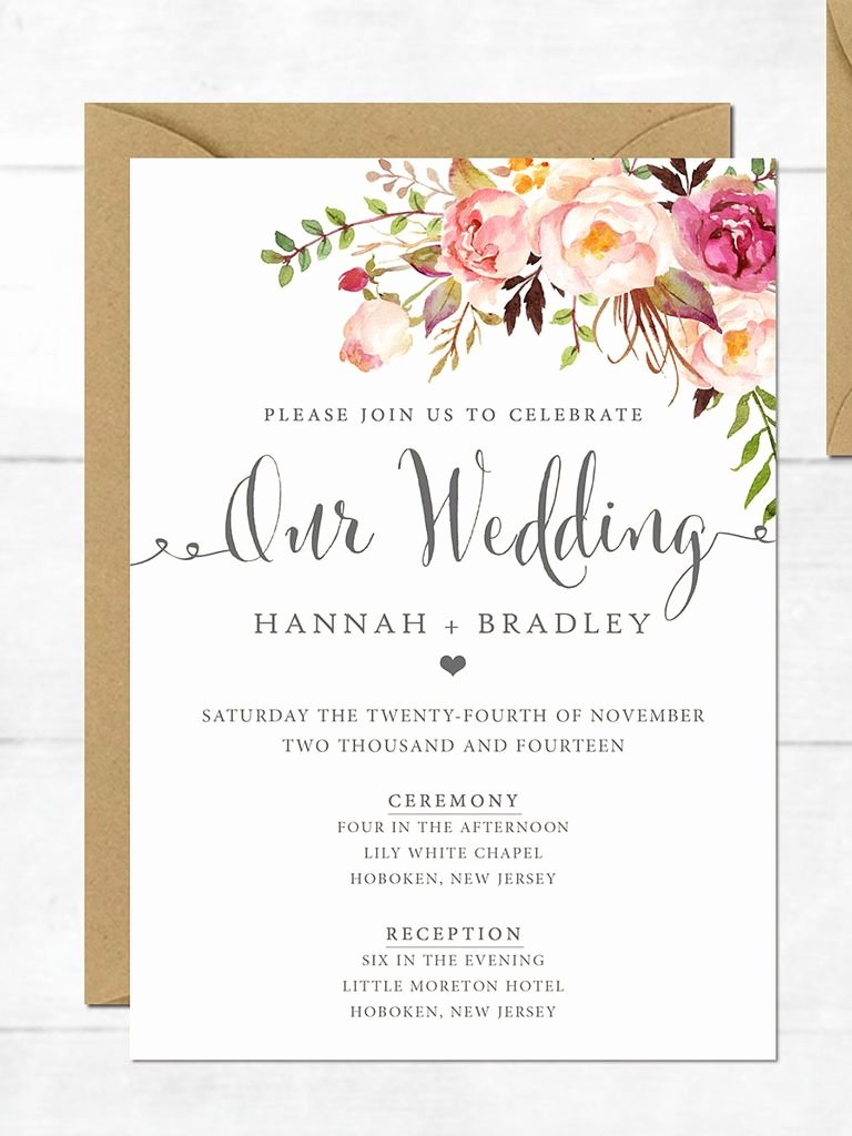 Country Wedding Invitations Templates Free Awesome 16 Printable Wedding Invitation Templates You Can Diy