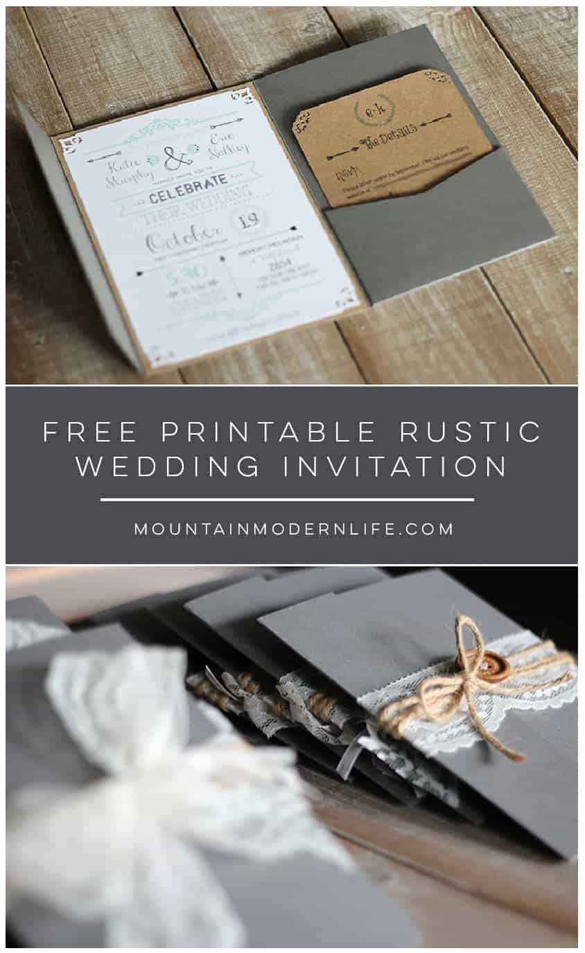 Country Wedding Invitations Templates Free Inspirational Free Wedding Invitation Template