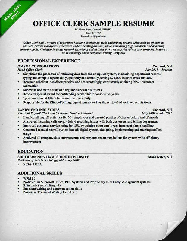 Cover Letter for Clerical Position Best Of Entry Level Clerical Resume Samples Resume Template