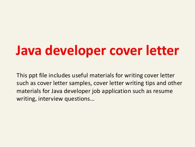 Cover Letter for Java Developer Beautiful Java Developer Cover Letter