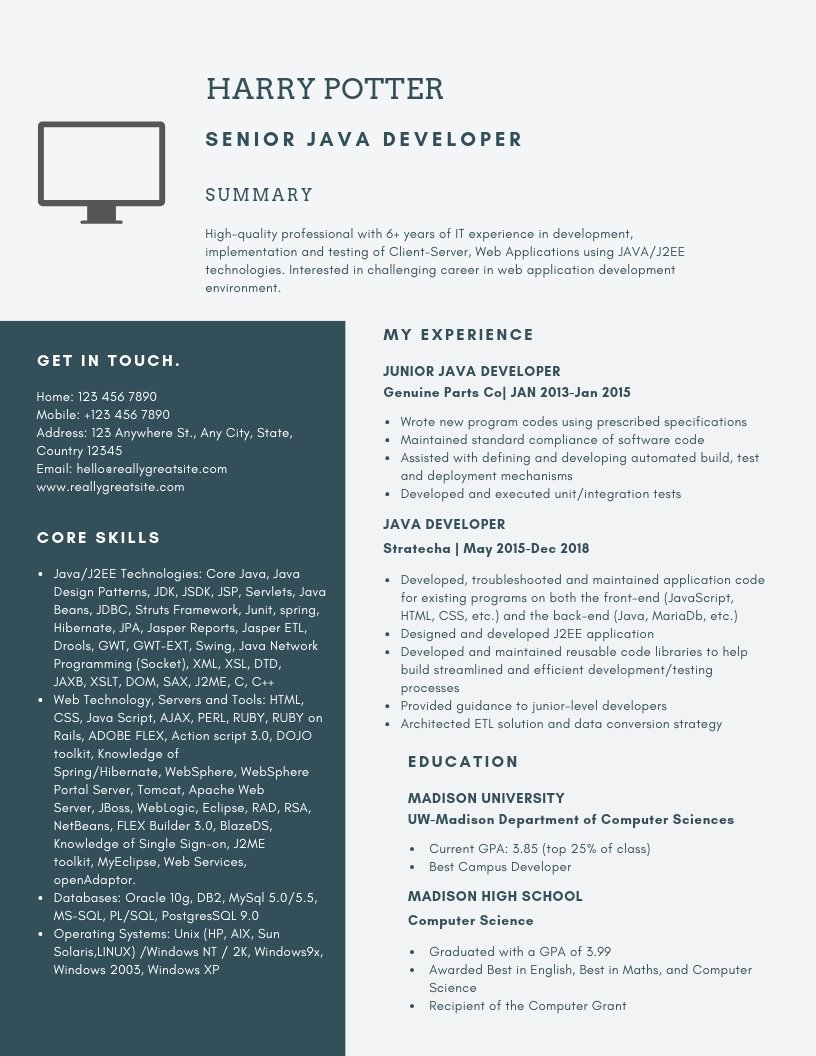 Cover Letter for Java Developer Lovely Senior Java Developer Resume Samples & Templates [pdf Word] 2019